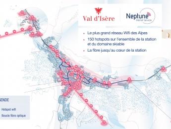 Déploiement du réseau Wifi à Val d'Isère